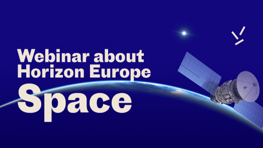 Banner webinar about Horizon Europe